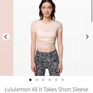 Lulu all it takes crop tee in light butter pink